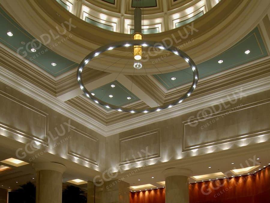 Custom chandelier for Shanghai Everbright Convention & Exhibition Center International Hotel