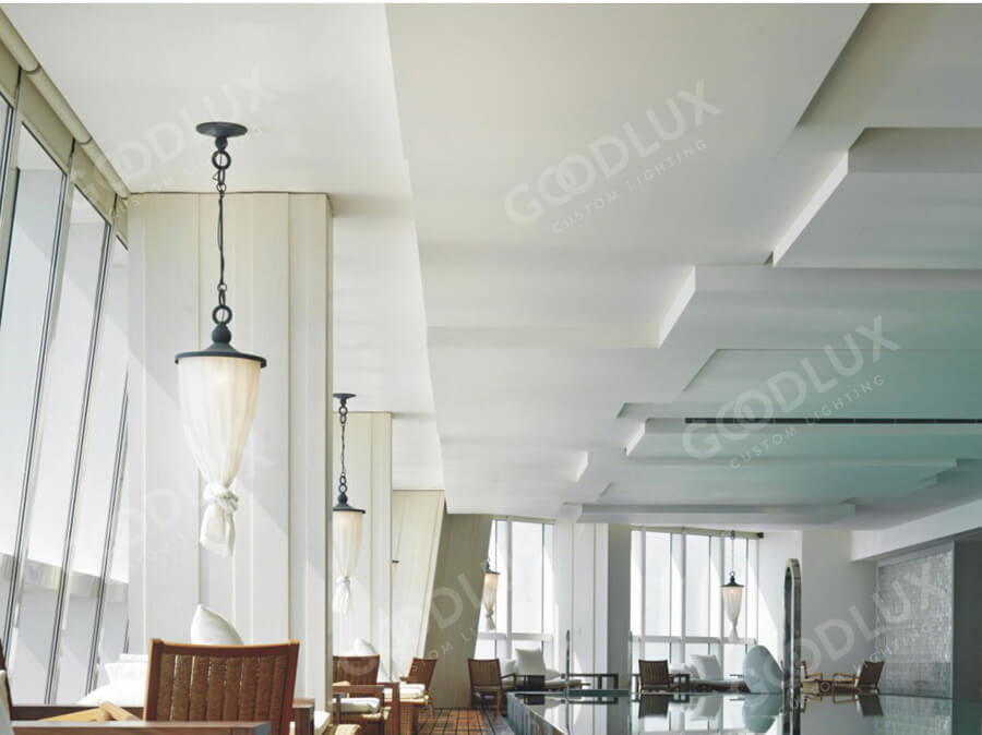 Custom pendant light for Shanghai Park Hyatt Hotel