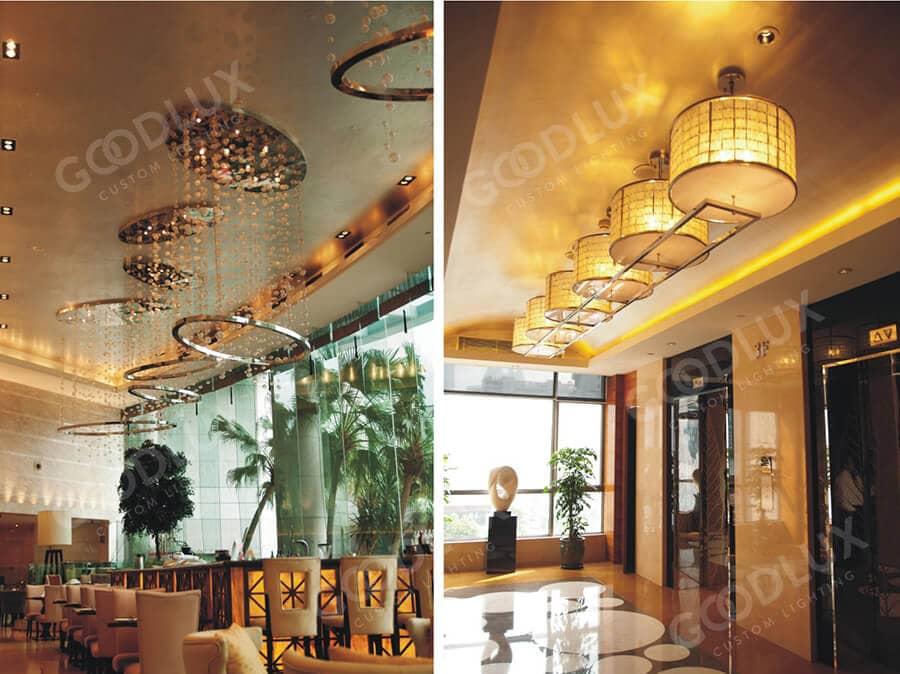 custom lighting for public area of Xiamen Crowne Plaza Hotel