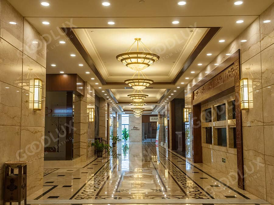 custom pendant light for Yichun Mingyueshan Hotel